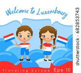 Luxembourg   Boy And Girl With...