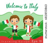 Italy   Boy And Girl With...