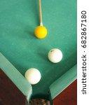russian billiards   white balls ... | Shutterstock . vector #682867180