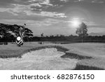 golf equipment and golf bag ...   Shutterstock . vector #682876150