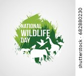 national wildlife day | Shutterstock .eps vector #682880230