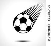 soccer ball or football... | Shutterstock .eps vector #682881403
