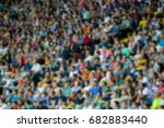 blurred for background. a crowd ... | Shutterstock . vector #682883440