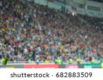 Blurred For Background. A Crowd ...
