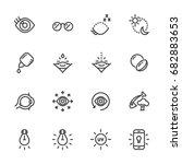 eye care for good eye health... | Shutterstock .eps vector #682883653