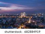 bangkok night cityscape ...   Shutterstock . vector #682884919