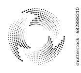 halftone dots circle texture.... | Shutterstock .eps vector #682888210