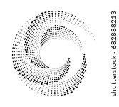 halftone dots circle texture.... | Shutterstock .eps vector #682888213