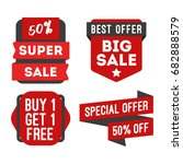 sale and discount banner... | Shutterstock .eps vector #682888579