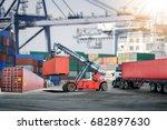 logistics import export... | Shutterstock . vector #682897630