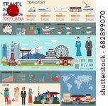 travel infographic. tokyo... | Shutterstock .eps vector #682899070