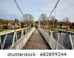 An Empty Pedestrian Bridge Vie...