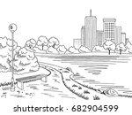 Park With A Lake  Landscape...