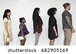 people standing in group for... | Shutterstock . vector #682905169