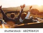 happy couple enjoying the... | Shutterstock . vector #682906414