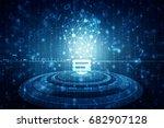 bulb future technology ...   Shutterstock . vector #682907128