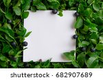 layout made of leaves and...   Shutterstock . vector #682907689