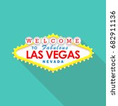 classic retro welcome to las... | Shutterstock .eps vector #682911136