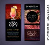 disco cocktail identity...   Shutterstock .eps vector #682912156