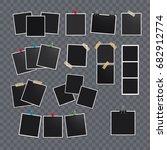 vector photo frame.set of... | Shutterstock .eps vector #682912774