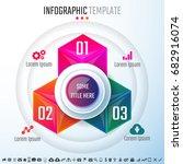 infographics design template... | Shutterstock .eps vector #682916074