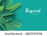 trendy summer tropical palm...