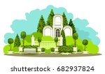 vector illustration of place of ... | Shutterstock .eps vector #682937824