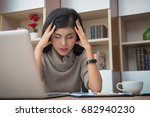 young businesswoman or... | Shutterstock . vector #682940230