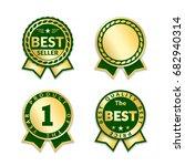 ribbon awards best seller set.... | Shutterstock .eps vector #682940314