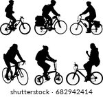 bicyclists silhouettes... | Shutterstock .eps vector #682942414