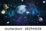 galaxy   elements of this image ... | Shutterstock . vector #682944658