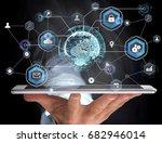 view of an international... | Shutterstock . vector #682946014