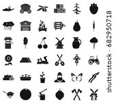 farming icons set. simple style ... | Shutterstock .eps vector #682950718