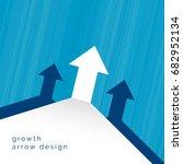arrow moving upward business... | Shutterstock .eps vector #682952134