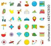 leisure sport icons set.... | Shutterstock .eps vector #682952830