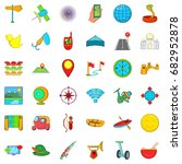leisure activites icons set.... | Shutterstock .eps vector #682952878