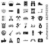 camping adventure icons set.... | Shutterstock .eps vector #682953550