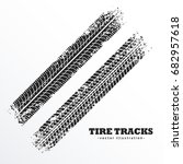 wheel tire tracks background... | Shutterstock .eps vector #682957618