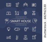 smart house line icons... | Shutterstock .eps vector #682962130
