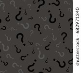 question mark seamless pattern .... | Shutterstock .eps vector #682971340