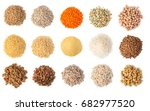 cereals set isolated on white... | Shutterstock . vector #682977520