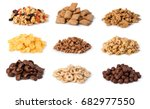 cereals set isolated on white... | Shutterstock . vector #682977550