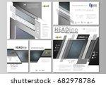 social media posts set.... | Shutterstock .eps vector #682978786