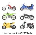 chopper  cruiser sport bike and ...   Shutterstock .eps vector #682979434