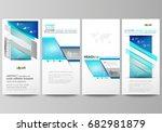 flyers set  modern banners.... | Shutterstock .eps vector #682981879