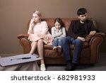family psychotherapy. family on ... | Shutterstock . vector #682981933