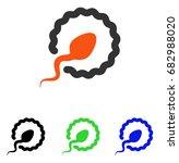 sperm penetration vector icon....   Shutterstock .eps vector #682988020