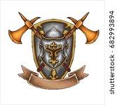 vector illustration of knight... | Shutterstock .eps vector #682993894