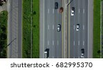 aerial view of expressway ... | Shutterstock . vector #682995370