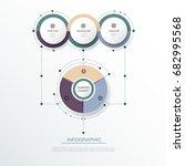 vector infographic 3d circle... | Shutterstock .eps vector #682995568
